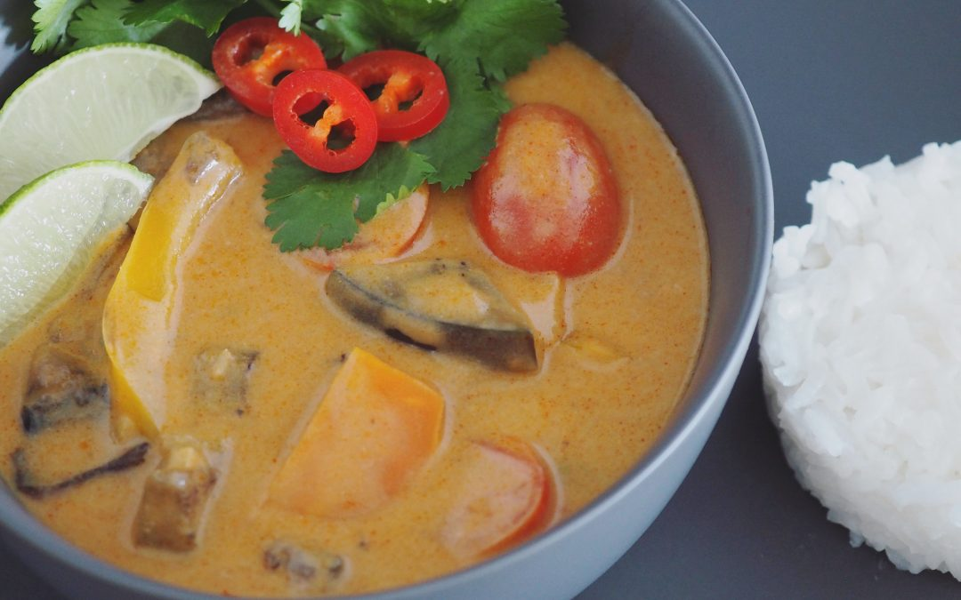 Vegetarisk thai red curry